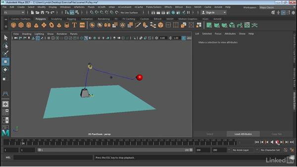 Create rope and pulley assemblies with nHair: Maya: Tips, Tricks, & Techniques