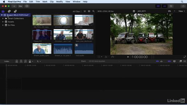An under-the-hood introduction: Understanding the FCP X file structure: Final Cut Pro X 10.3 Essential Training