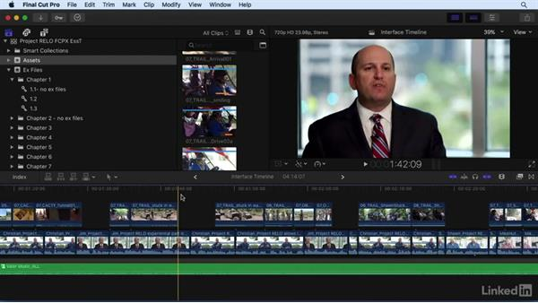 A tour of the FCP X interface: Timeline and tools: Final Cut Pro X 10.3 Essential Training
