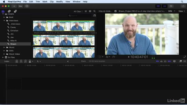 Rating and filtering clips: Final Cut Pro X 10.3 Essential Training