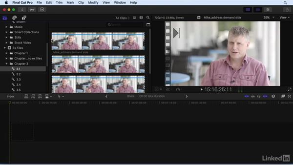 Playing, navigating, and marking footage: Final Cut Pro X 10.3 Essential Training