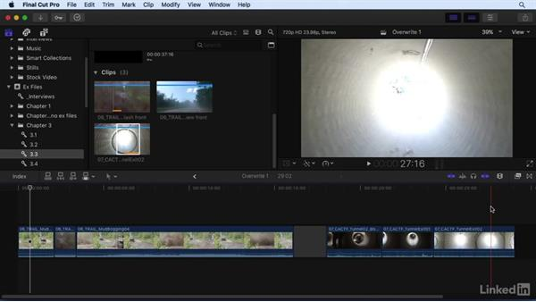 Changing shots: Using Overwrite and Replace edits: Final Cut Pro X 10.3 Essential Training