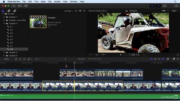 Going deeper into timeline and interface navigation: Final Cut Pro X 10.3 Essential Training