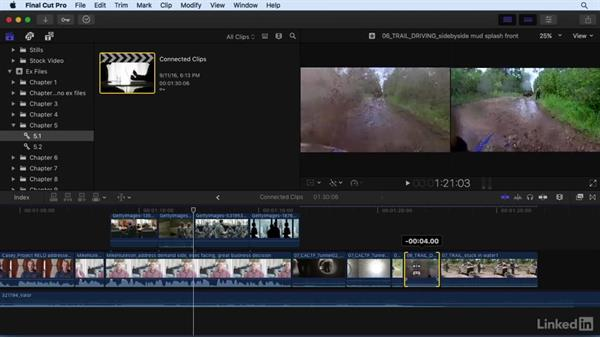 Understanding features and limitations of connected clips: Final Cut Pro X 10.3 Essential Training