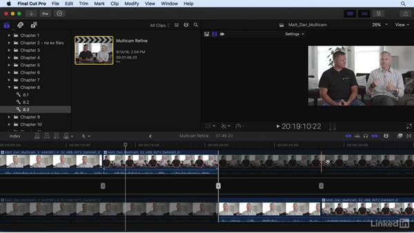 Refining the multicam edit: Final Cut Pro X 10.3 Essential Training