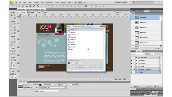 Using Demo Current Document : Fireworks CS4: Rapid Prototyping