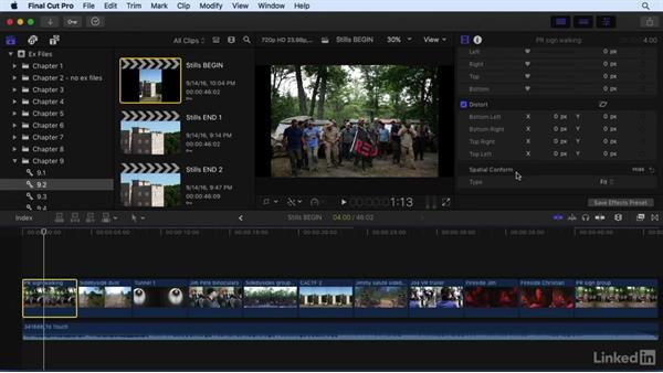 Working with still images: Final Cut Pro X 10.3 Essential Training