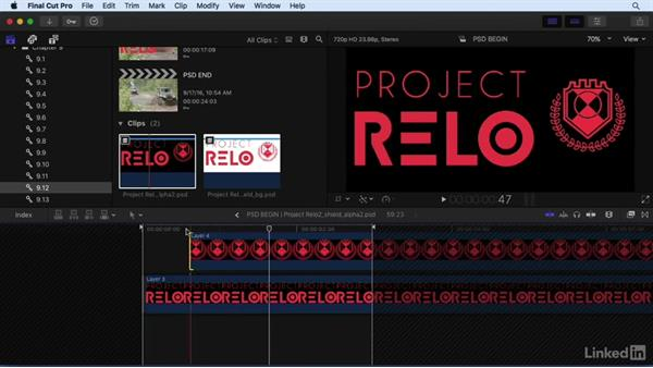 Working with layered Photoshop files: Final Cut Pro X 10.3 Essential Training