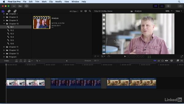 Analyzing shots for color problems: Final Cut Pro X 10.3 Essential Training