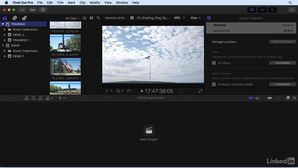 Managing libraries, events, and clips: Final Cut Pro X 10.3 Essential Training