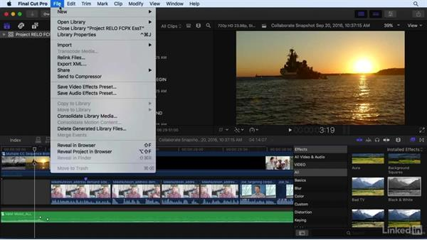 Managing your projects and collaborating with others: Final Cut Pro X 10.3 Essential Training