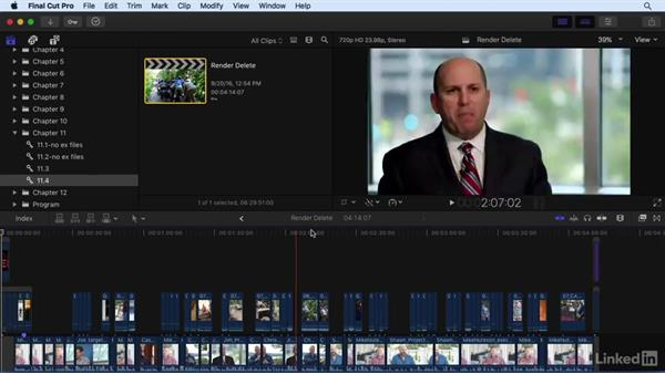 Managing generated content: Transcoded and render files: Final Cut Pro X 10.3 Essential Training