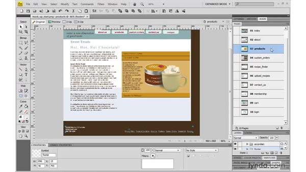 Adding a new page: Fireworks CS4: Rapid Prototyping