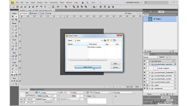 Using Flex skins: Fireworks CS4: Rapid Prototyping