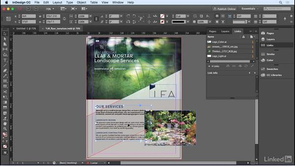 Moving objects around: InDesign CC 2017 Essential Training