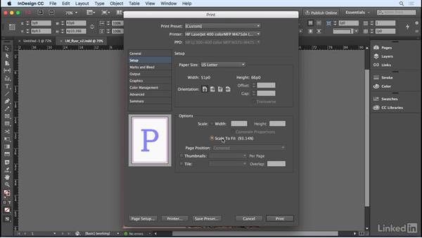 Printing and creating a PDF: InDesign CC 2017 Essential Training