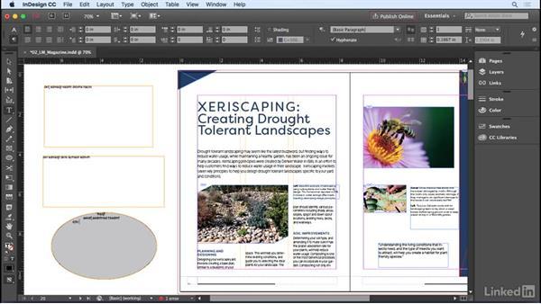 Adding text frames: InDesign CC 2017 Essential Training