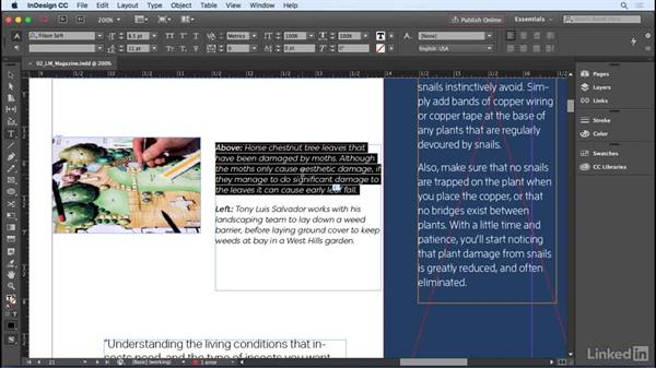 Typing and editing text: InDesign CC 2017 Essential Training