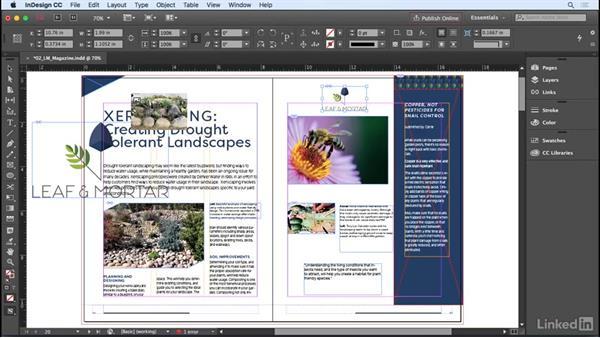 Importing graphics: InDesign CC 2017 Essential Training