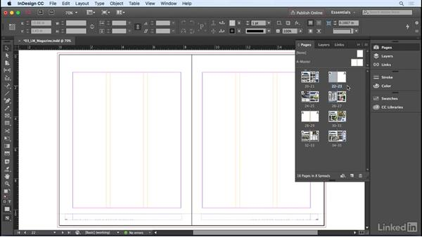 Inserting, deleting, and moving pages: InDesign CC 2017 Essential Training