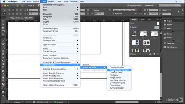 Creating and applying master pages: InDesign CC 2017 Essential Training