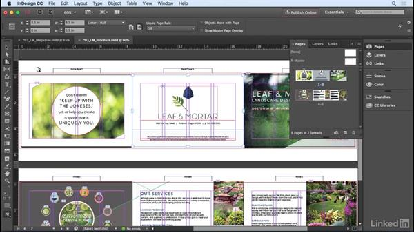 Changing page size: InDesign CC 2017 Essential Training