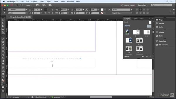 Adding page numbering: InDesign CC 2017 Essential Training