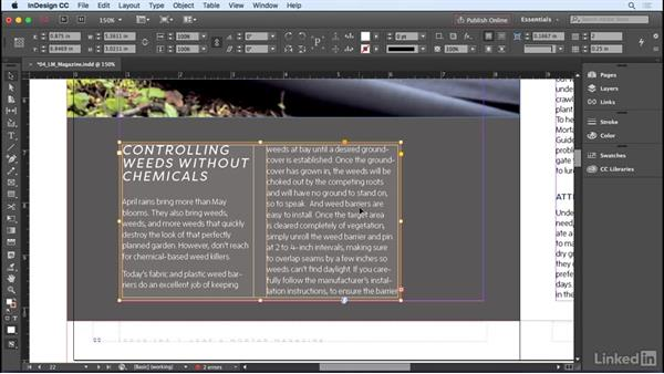 Text Frame Attributes: InDesign CC 2017 Essential Training