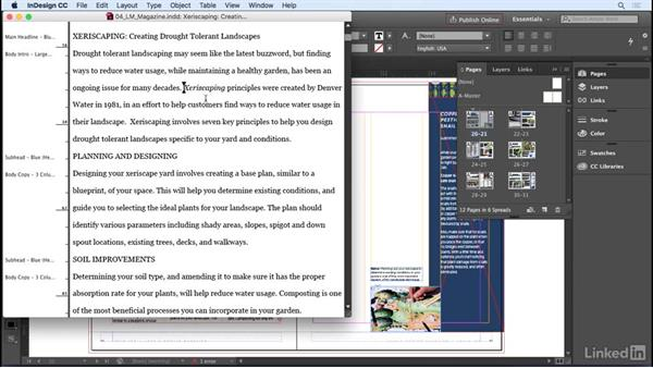 Using the Story Editor: InDesign CC 2017 Essential Training