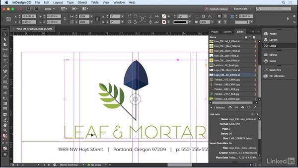Editing graphics in their original app: InDesign CC 2017 Essential Training