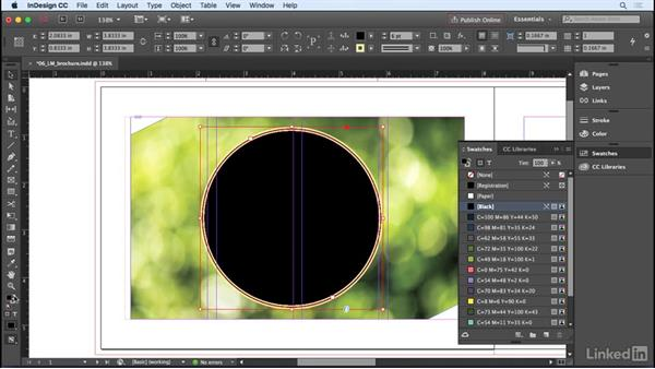 Stroking and filling frames and paths: InDesign CC 2017 Essential Training