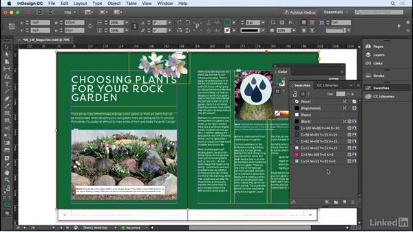 Understanding the danger, and power, of unnamed colors: InDesign CC 2017 Essential Training