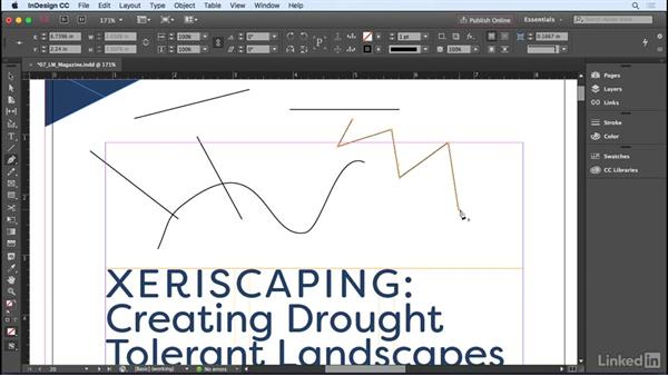 Drawing and editing path and frame shapes: InDesign CC 2017 Essential Training