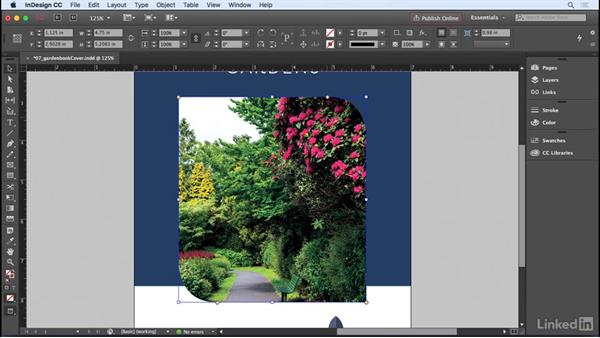 Adding rounded corners and other corner options: InDesign CC 2017 Essential Training