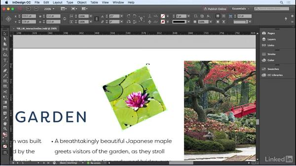 Scaling, rotating, duplicating, and transforming objects: InDesign CC 2017 Essential Training