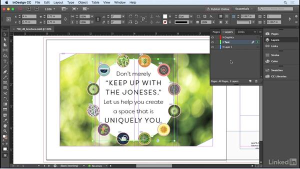 Creating and controlling layers: InDesign CC 2017 Essential Training