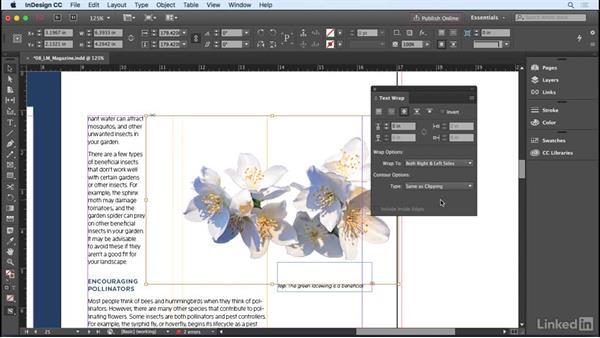 Understanding text wrap: InDesign CC 2017 Essential Training