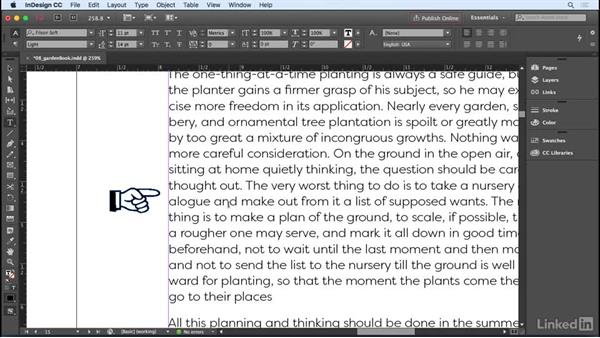 Using anchored objects: InDesign CC 2017 Essential Training