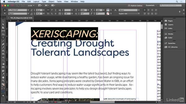 Applying advanced character formatting: InDesign CC 2017 Essential Training