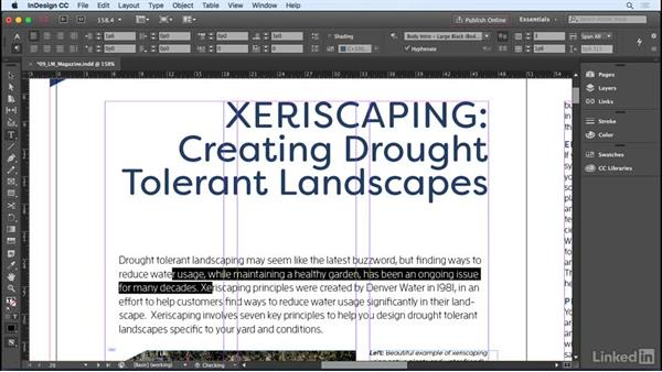 Applying formatting to a paragraph: InDesign CC 2017 Essential Training