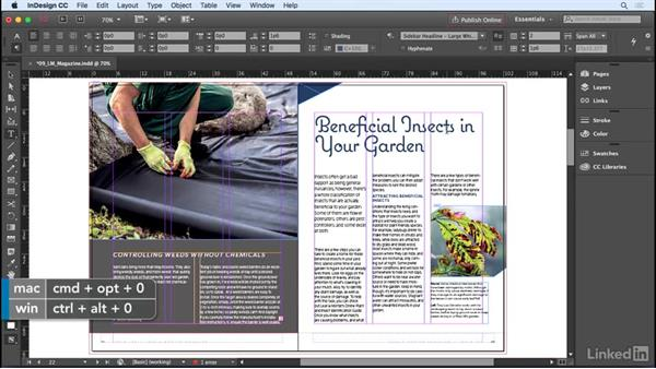 Spanning and splitting paragraphs: InDesign CC 2017 Essential Training
