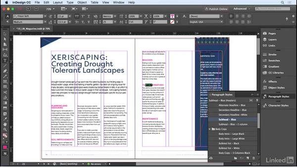 Creating and applying paragraph styles: InDesign CC 2017 Essential Training