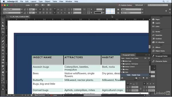 Formatting cells: InDesign CC 2017 Essential Training