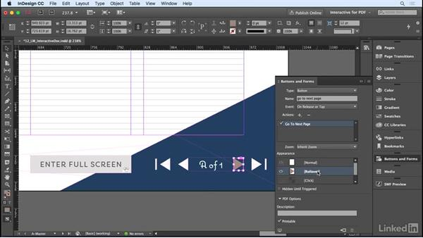 Creating an interactive PDF: InDesign CC 2017 Essential Training