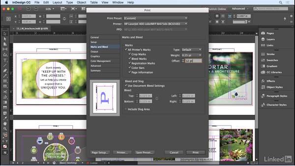 Using the Print dialog box: InDesign CC 2017 Essential Training