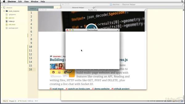 Configuring multiple windows: Electron: Building Cross Platform Desktop Apps