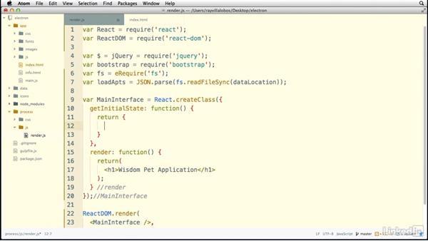 Using Node.js to import files: Electron: Building Cross Platform Desktop Apps