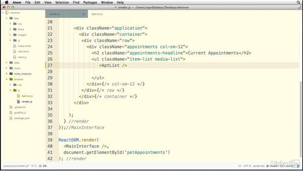 Creating an external component: Electron: Building Cross Platform Desktop Apps