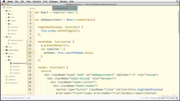 Processing form data: Electron: Building Cross Platform Desktop Apps