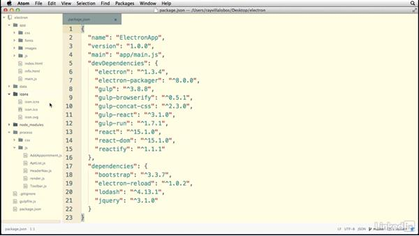 Packaging the application: Electron: Building Cross Platform Desktop Apps